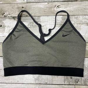 Nike dri fit Indy sports bra grey/black